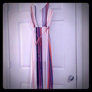 Striped Sheer summer maxi dress